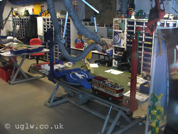 View of model makers workshop at Legoland Windsor