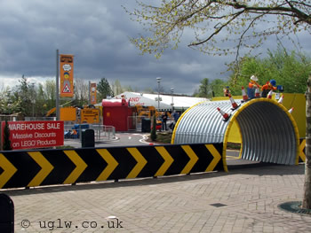 Digger Challenge at Legoland Windsor - entrance