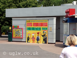 The toilets available before you enter Legoland