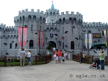 The Dragon roller coaster ride at Legoland Windsor - entrance