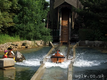 Pirate Falls ride at Legoland Windsor