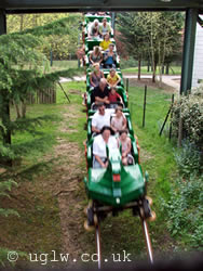 The Dragon roller coaster ride at Legoland Windsor