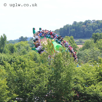 Mia's Riding Adventure ride at Legoland Windsor - poking out above the trees